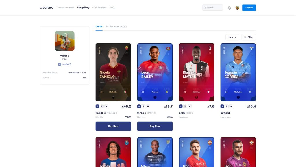 fantasy football blockchain